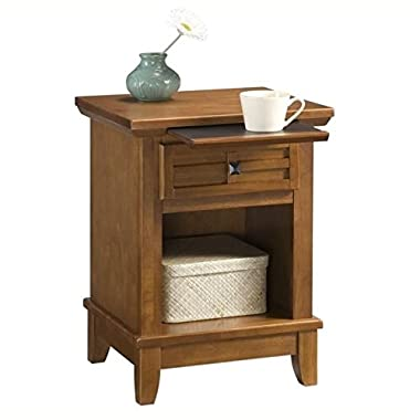 Home Styles 5180-42 Arts Crafts Night Stand, Cottage Oak Finish