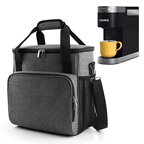 BAGLHER 丨Portable Storage Bag, Suitable for Keurig K-Mini and K-Mini Plus Coffee Machines and Other Accessories, Waterproof Travel Carrying Case, Dustproof Tote Bag with Shoulder Strap.