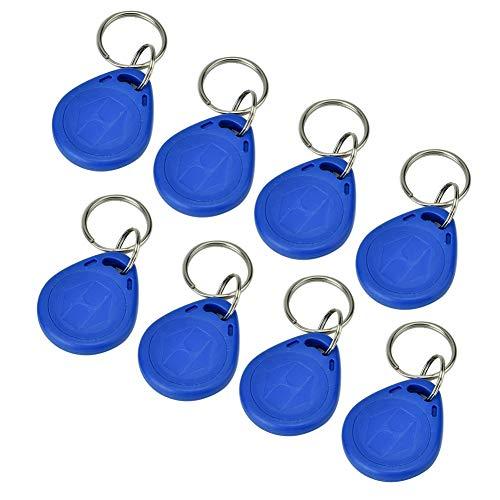 Shanbor RFID RFID key ring, 100 pieces Blue key ring RFID proximity RFID proximity key for intelligent security access control(ID card)