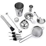 Skymore Coctelera Kit, cocktail Kit, Cocktail Shaker, Accesorios de Cóctel de Acero Inoxidable