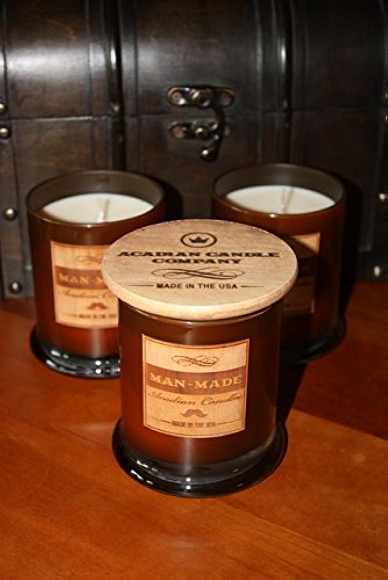 安心意気揚々累積Acadian Candle 11354 Man-Made Candle, Musk