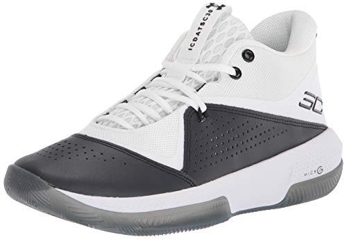 Under Armour Men's Sc 3zer0 Iv Basketball Shoe, White/Black, 8