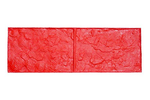 Large Cobble Border Concrete Stamps for Borders by Walttools | Rugged 10 inch Cobblestone Tile Paver Decorative Pattern, Sturdy Polyurethane Texturing Mat, Realistic Detail (Single)