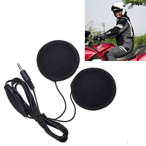 Accesorios para Motocicletas MMGZ Casco de la Motocicleta de 3,5 mm for Auriculares con micrófono for iPhone/Samsung/HTC/Xiaomi/Nokia (Negro)