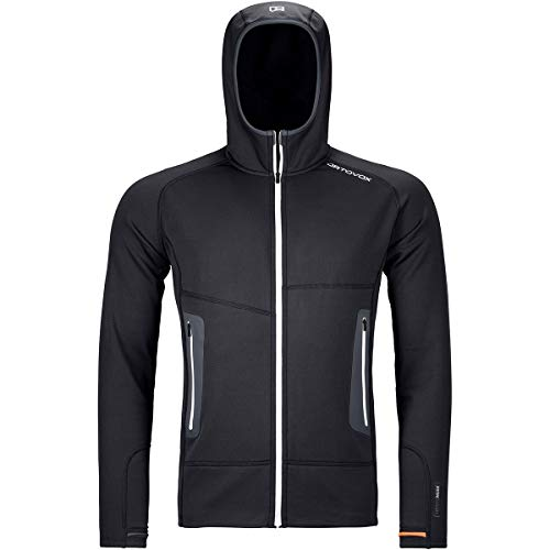ORTOVOX Herren Fleece Light Hoody, Black Raven, M