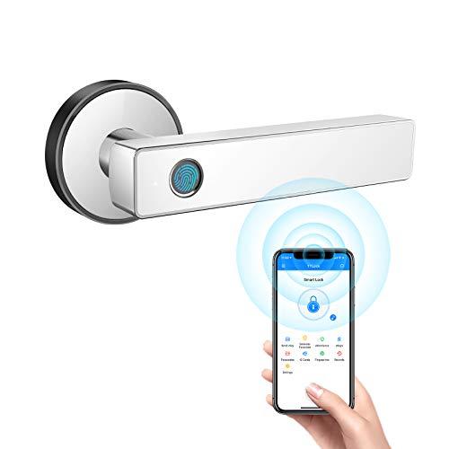 Tiffane Biometric Fingerprint Door Lock,Bedroom Door Lock,WiFi Bluetooth Smart Door Lock (White)