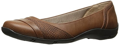 LifeStride Women's Dig Flat, Tan Kylie, 9.5 N US