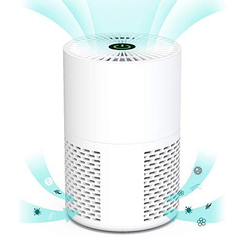 Himox Purificador de Aire de Sobremesa, HEPA Filtro Alimentado por USB Cable para Escritorio Oficina, Eliminar 99.5% Polvos, Alérgenos,Polen