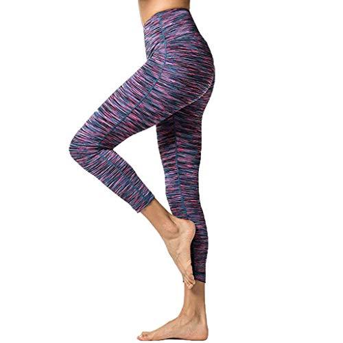 LeeMon Pantalones de fitness para mujer, elásticos, cintura alta y estrechos, para fitness, yoga, con bolsillo oculto