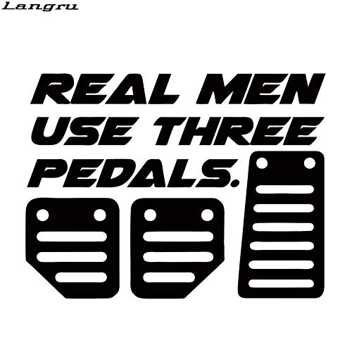 JYIP Real Men Use Three Pedals Car Styling Sticker Vinyl Decal Drift Stance Illest Illmotion Decor Gray