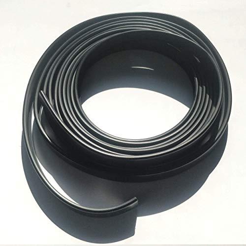 5N16 Cubrecanto de plástico flexible en U (umolding)(16 mm., NEGRO). Tira de 5 metros.