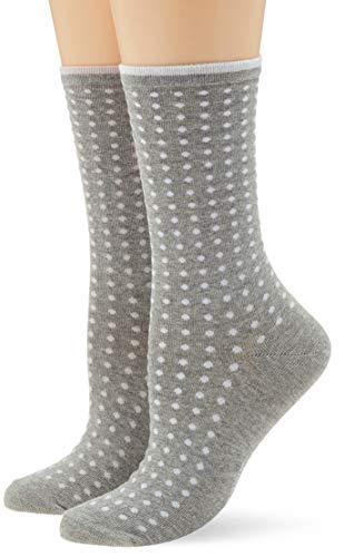 ESPRIT Damen Socken Tiny Dot - 80% Baumwolle, 1 Paar, Grau (Light Grey 3400), Größe: 39-42