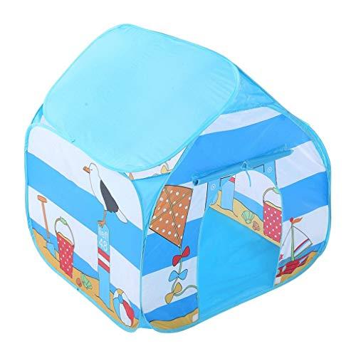 XBETA Play Carpa for niños |Juego de carpa portátil for jugar al aire libre en interiores |Casa de juegos grande |Castillo de niños |Tela Oxford Premium en Azul con Tote