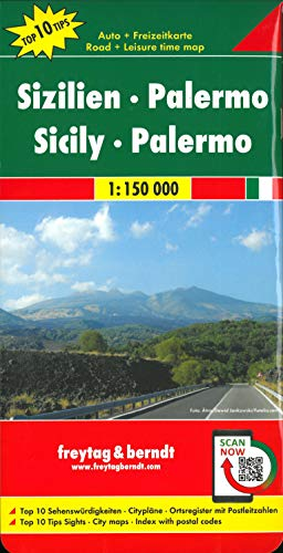 Sizilien - Palermo, Autokarte 1:150.000, Top 10 Tips: Toeristische wegenkaart 1:150 000 (freytag & berndt Auto + Freizeitkarten)