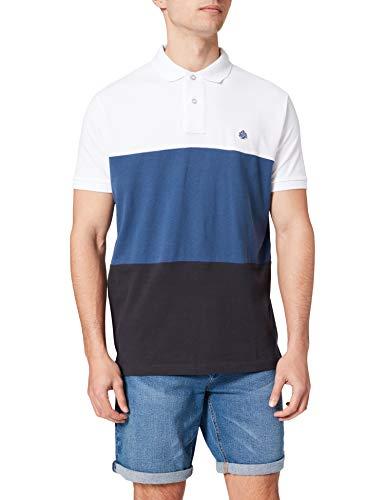 Springfield Polo Camiseta, Blanco, M para Hombre