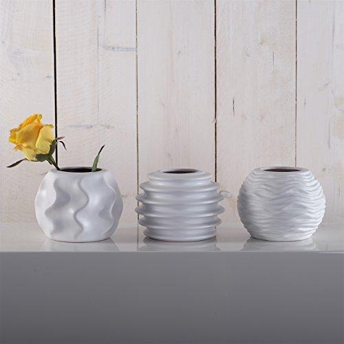 SET DI VASI 'ROMA'   bianco, porcellana, 17 cm   3 pezzi