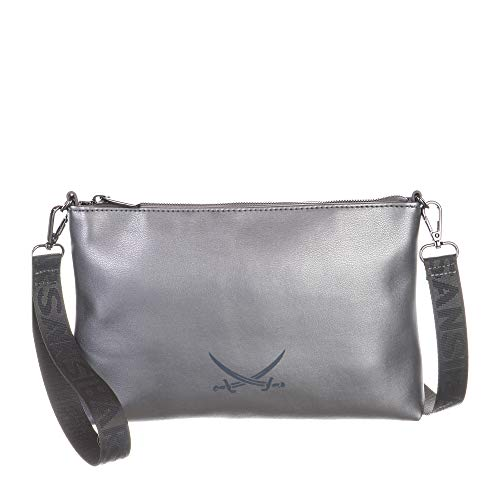 Sansibar Damen Crossover Bag Umhängetasche Grau Anthra Metallic