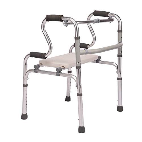 LILIS Rollator Faltbar Und Leicht Walker, Home-Assisted Fuß Halterung, höhenverstellbar 6, faltbar, maximale Belastung 360 lbs (Size : #3)