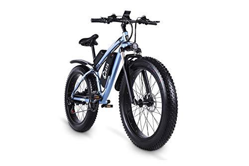 Ceaya 26' bicicletta elettrica 1000W 48V 17Ah Batteria rimovibile Pendolare 21 Velocità ingranaggi E-Bike per adulti