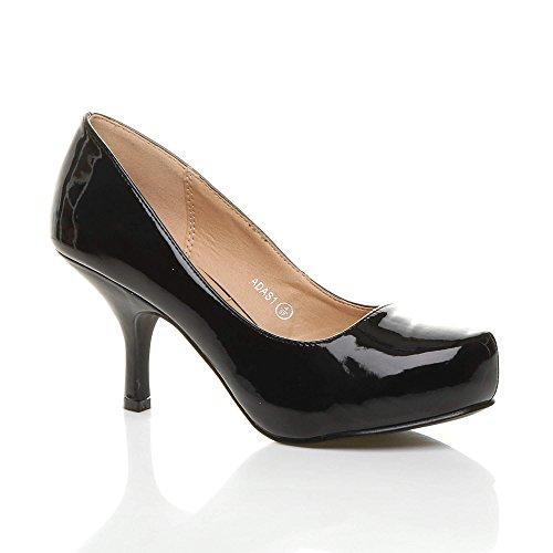 Ajvani, Scarpe col tacco donna, Nero (nero), 37.5