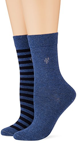Marc O'Polo Body & Beach SVEA Damen Socken, Blau (Jeansblau 816), 35/38 (Herstellergröße: 400)