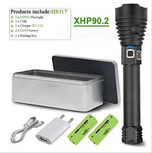 300000 lm Xhp90.2 más potente linterna LED linterna