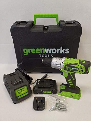 Greenworks Tools 24V accu-klopboormachine incl. 2 Ah accu, oplader en koffer 3801107VA