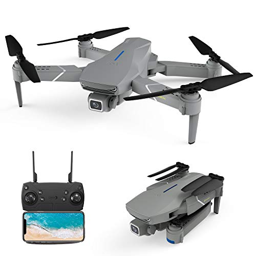 EACHINE E520S Pro GPS Drohne mit 4k HD Kamera 5G WiFi FPV Live Übertragung 250M Reichweite 120°Weitwinkel Follow-Me 16 Min Flugzeit RC Quadrocopter Faltdrohne für Anfänger
