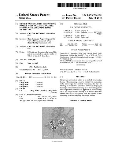 Method and apparatus for avoiding damage when analysing a sample surface with a scanning probe microscope: United States Patent