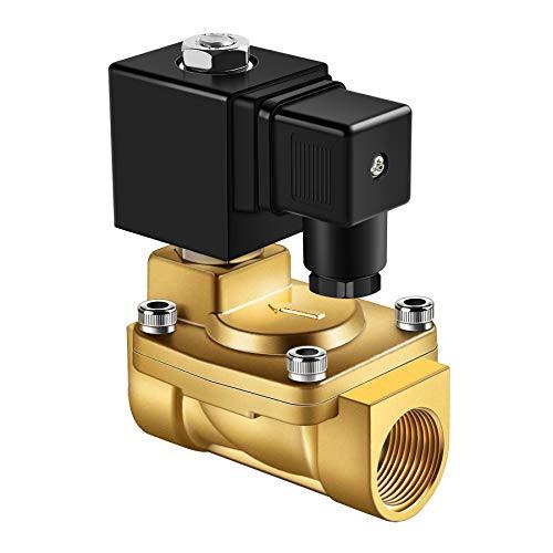 Forever Speed Magnetventil Messing Elektrisches Magnetventil 230v Magnetventil,Servogesteuert, Wasser Gas Öl (G1/2