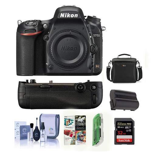 Nikon D750 DSLR Body MB-D16 Battery Grip Kit (Grip + Accessories)