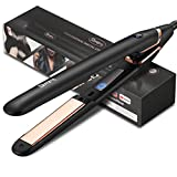 Straightener and Curling Iron in One, Deogra Titanium Flat Iron for Hair, 450°F Salon High Heat 15s Fast Heat Up, Smart Touch Control Hair Flat Iron