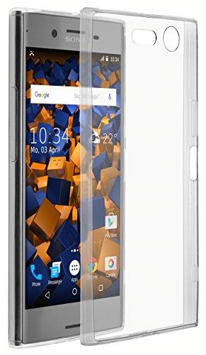 mumbi Hülle kompatibel mit Sony Xperia XZ Premium Handy Hülle Handyhülle dünn, transparent