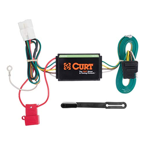 CURT 56040 Vehicle-Side Custom 4-Pin Trailer Wiring Harness, Select Subaru Ascent, Forester, Outback, Crosstrek, XV
