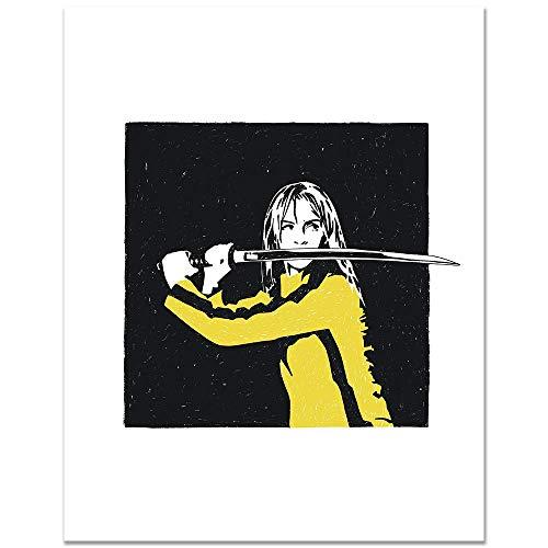 8x10 Kill Bill Poster/Movie Poster/Quentin Tarantino Poster/Uma Thurman Poster/Movie Wall Art/Home Wall Decor/Living Room Poster/Office Decor/Office Wall Art/Wall Hanging