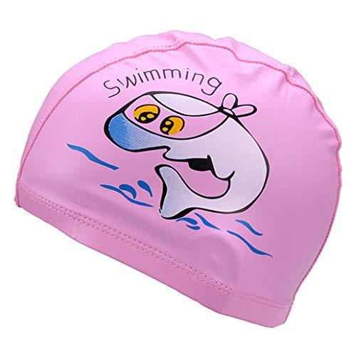 Runuo Kinderzwemhoed, ademend haarverzorging met PU-coating Dolphin Patroon