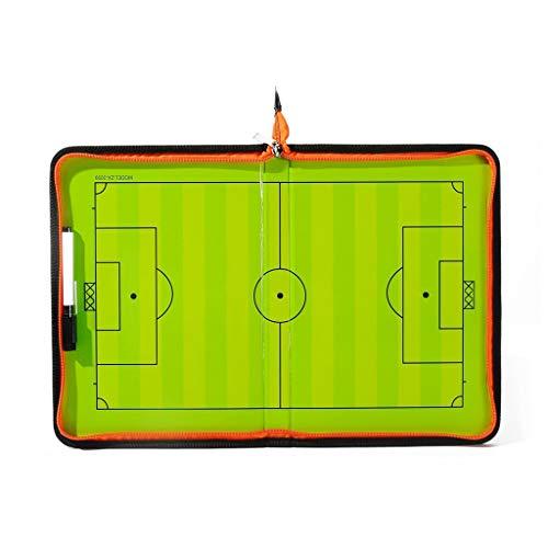 Portapapeles magnéticos tácticos de fútbol con cremallera de borrado en seco y marcador