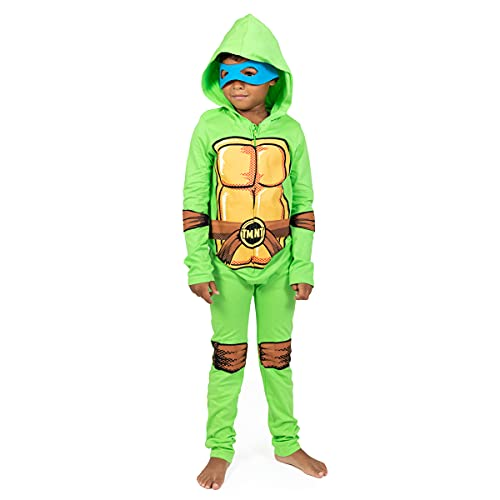 Nickelodeon Teenage Mutant Ninja Turtles Toddler Boys Hooded Costume Coverall & Mask Set 3T