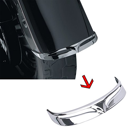 XMT-MOTO Chrome ABS Rear Fender Tip Trailing Edge fits for Harley Davidson Fatboy 2007 2008 2009 2010 2011 2012 2013 2014 2015 2016 2017