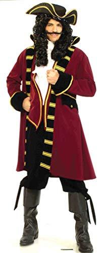 Forum Novelties mens Designer Deluxe Pirate Captain Costume, Multi, X-Large