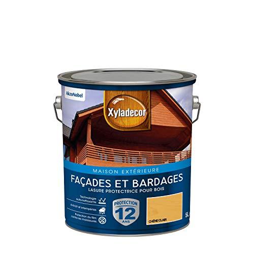 Xyladecor - Lasure Protectrice pour Bois Extérieur - Façades, Bardages, Chalets - Couleur : Satin Chêne Clair - Quantité : 5L - 5324300