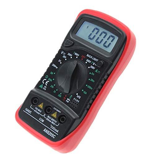 Berrywho Digital Multi-Meter Voltmeter Ammeter DC AC Tester Digital Multimeter Multifunctional DIY Test Tool Red