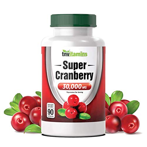 Cranberry Pills for Women & Men (30,000 MG x 90 Capsules) | Supports Urinary Tract Health* | Cranberry Concentrate Supplement | Bladder & Kidney Support* | Supports Women's Health* | Antioxidants