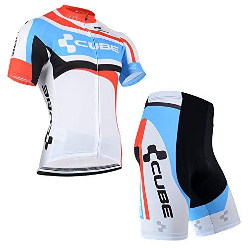 Abbigliamento Ciclismo Estivo Traspirante Maglia Zip Uomo MTB e Pantaloncini Body Ciclismo Abbigliamento Sportivo Completo Ciclismo Uomo Squadre
