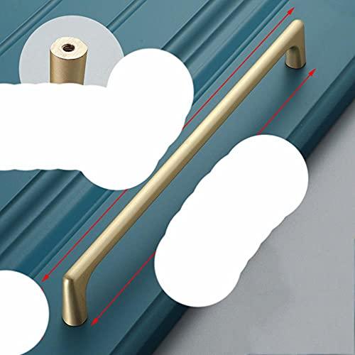 Aleación de zinc Perla Gris Dorado Manijas de gabinete Perillas de cajón sólido Puerta de armario de cocina lls Manija de muebles Herrajes de gabinete-Cobre cepillado 192 mm
