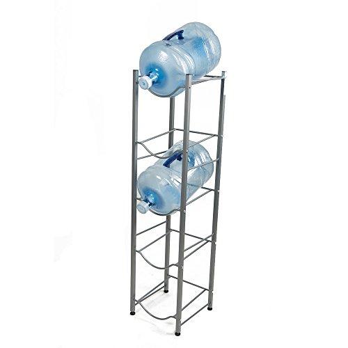 Mind Reader 5 Tier Stainless Steel Heavy Duty Water Cooler Jug Rack, Silver
