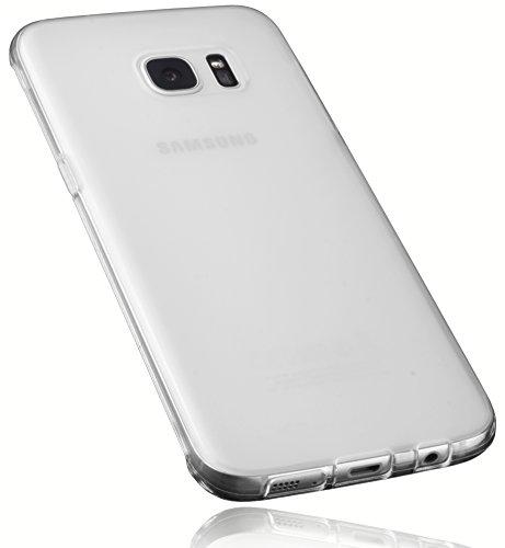 Preisvergleich Produktbild mumbi Hülle kompatibel mit Samsung Galaxy S7 Edge Handy Case Handyhülle,  transparent Weiss