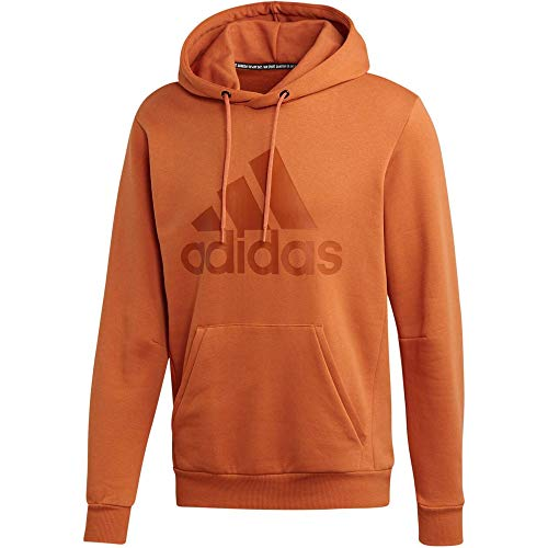 adidas Performance Must Haves Badge of Sport Fleece Kapuzenpullover Herren orange/Hellbraun, XXL