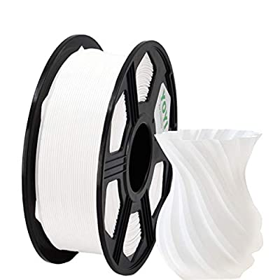 YOYI 3D Printer Filament, PLA PFilament 1.75mm 1KG (2.2 lbs) Spool, Dimensional Accuracy +/- 0.03 mm (White)