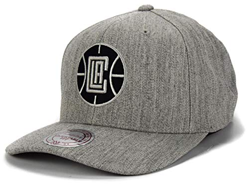 Mitchell & Ness NBA Curved Visor 110 Snapback L.A. Clippers, gris jaspeado